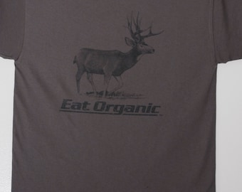 Mule Deer Tee - Eat organic - hunting - outdoors - deer season - wildlife art - graphic tee - Hunting Gift