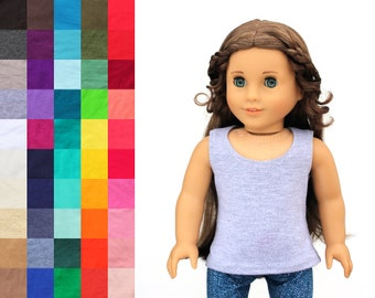 Fits like American Girl Doll Clothes - Scoop Neck Tank Top, You Choose Color | 18 Inch Doll Clothes