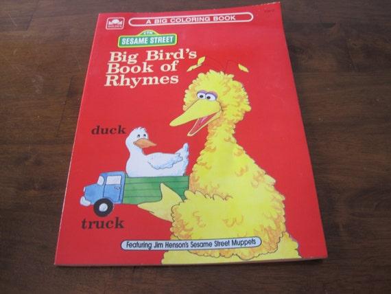 Vintage Sesame Street Coloring Book Unused Big Birds