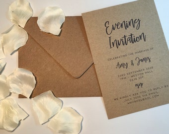 RUSTIC - EVENING INVITATION wedding invitation, rustic wedding collection