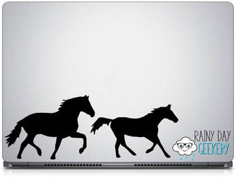 Horse Silhouette Vinyl Decals - Set of 2 Horse Decals - Animal Vinyl Decal - Choose your Size and Color