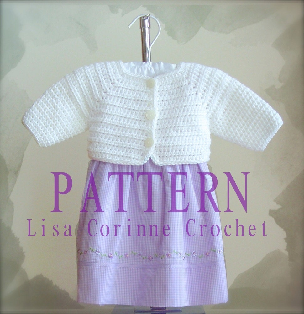 Baby Girl Sweater Crochet PATTERN Baby Shrug Sweater PATTERN