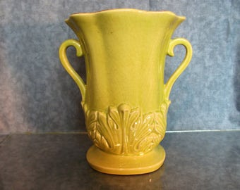 Red Wing Pottery Yellow with Brown Glaze Inside # 1357