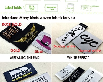 Custom woven label, sew on name tag, sew in cloth label, printed fabric label, clothing label printed,  woven label sew on