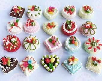 20pcs.Miniature Cake,Miniature Sweet,Miniature Bakery,Dollhouse Cake,Miniature Food,Dollhouse Sweet,Dollhouse Bakery,Miniature Cabochon