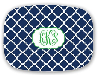 Personalized Platter, Monogram Tray, Monogrammed Wedding Gift,  Choose your Colors- Hostess Gift, Bridal Shower Gift