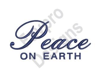 Peace On Earth - Machine Embroidery Design