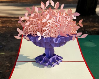 3D Pop Up Spring Pink Blossom Greeting Card for All Occasions