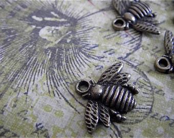 Bee Charm - 5 - Antique Bronze- Bumble Bee Charm (ABBC)