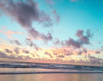 Ocean print, waves print, beach print, beach photography, ocean art, sea print, sea photography, sunrise photo, sunrise photography