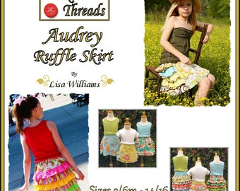 INSTANT DOWNLOAD: Bundle Pack Audrey Ruffle Skirt - DiY Tutorial PdF eBook Pattern - Sizes 3/6M to 14/16