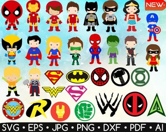 Super Heroes Clipart U2022 Super Heroes Set U2022 Super Heroes Logo Svg U2022 Super Hero  Minus U2022 Super Hero Printable U2022 Easy To Cut U2022 Instant Download