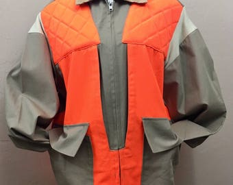 Game Hunter Orange Safety Quail Dove Hunting Jacket/Coat