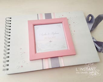 Guestbook wedding Elegance - pale pink / grey - the moment C