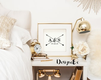 Print - Marriage Date with Initials