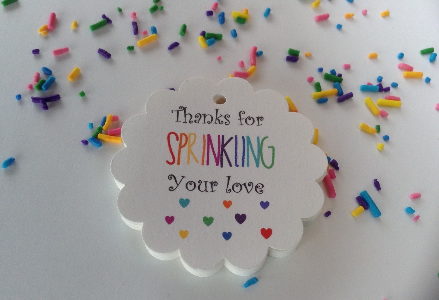 25 thanks for sprinkling your love gift tags baby shower zoom negle Image collections