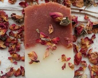 Handmade Natural Soap, Rose Soap, Jasmine Soap, Exfoliating Soap, Gift, Soap for Women, Romantic Soap, Vegan