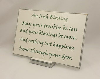 Irish Blessing or Marriage Prayer choice of 9 verses or