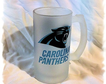 Carolina Panthers Frosted 16 ounce Beer Mug