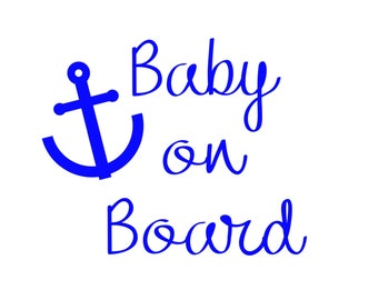 Nautical Baby on Board Sticker / Baby on Board Car Decal / Baby on Board Decal / Nautical Baby on Board Sign / Car Sticker / Baby Gift