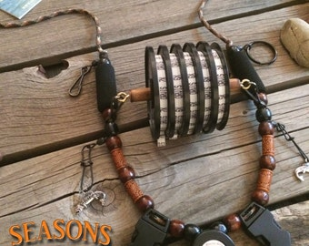 """Fly Fishing Lanyard """"Seasons"""" on a Fly by Golden Trout Lanyards"""