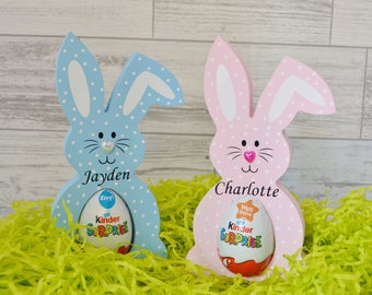 Easter egg holder etsy personalised easter bunny easter rabbit kinder egg holder easter decoration easter gift negle Choice Image