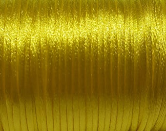 Yellow 2mm Satin cord (5 m)