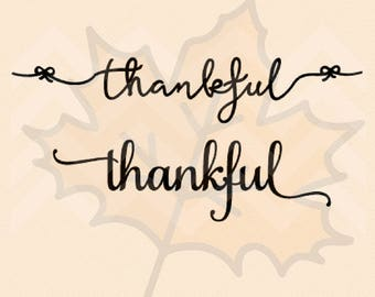 2 Thankful SVG Vector File