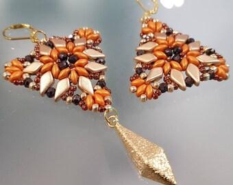 long earrings, dangle earrings, fashion earrings, made in italy, different earrings, gift for her, handmade earrings