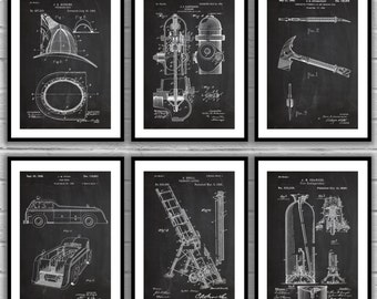 Fire man Patent Posters, firefighter patent, Fire Truck Wall Art, Firefighter Nursery, Fireman Helmet, Firefighter Wall Decor, Fire Engine