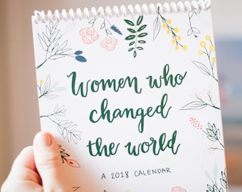 Women Who Changed The World Desktop Calendar