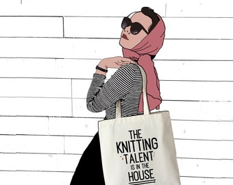 Knitting Talent | Funny Knitting Bag | Knitting Slogan Bag | Knitting Tote | Gift For Knitter | Knitting Accessories | Craft Bag