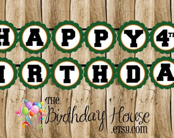 Basketball Friends Birthday Party Banner - Custom Sports Party Banner by The Birthday House