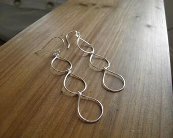 """Earrings... """"Dew Drops"""" earrings sterling silver, brass or bronze wire warpped earrings."""