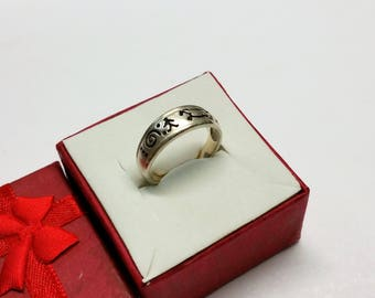 19 mm ring 925 Silver symbol Indian jewelry SR958