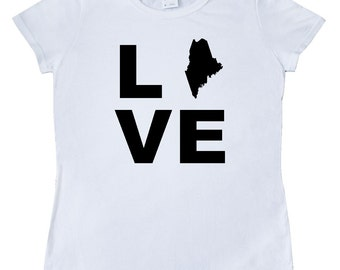 Love Maine Women's T-Shirt by Inktastic