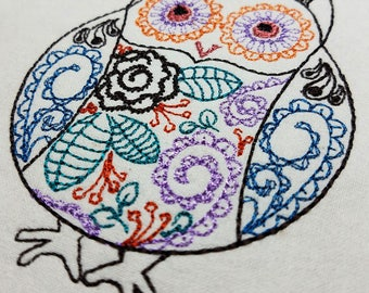 Whimsical Owl - Machine Embroidery Design
