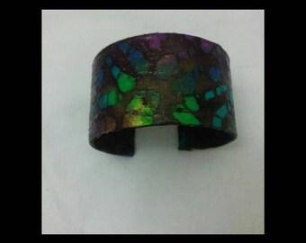Batik Print Cuff Bracelet