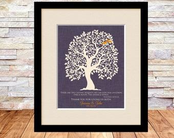 Thank You Parent Wedding Gift, Brides Parents, Grooms Parents, Mother of Groom, Mother of Bride, Wedding Tree Art Print