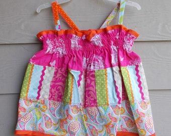 Handmade Floral Pillowcase Dress 2-3T - toddler sundress, girls sundress, sleeveless dress, girls clothing, beach pillowcase dress, halter