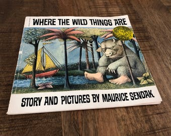 1963 Softcover Edition of Where The Wild Things Are Book