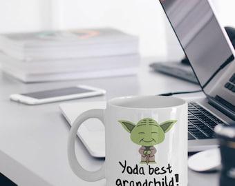 Best Grandchild Mug - Yoda Best Grandchild Gift - Funny Grandchild Gifts - Yoda Collectors - Star Wars Mug - Yoda Best Grandchild Pun Mug