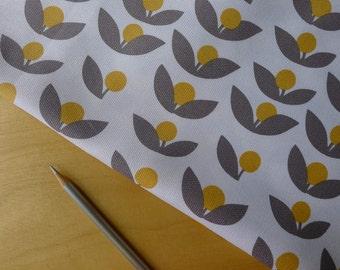 Glimma CANVAS Tove Dandelion Flannel-colored Grey Lotta Jansdotter for Windham - Half Yard - Home Decor Weight Cotton Fabric