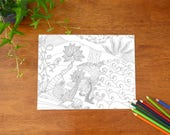 Adult Colouring Page of T...