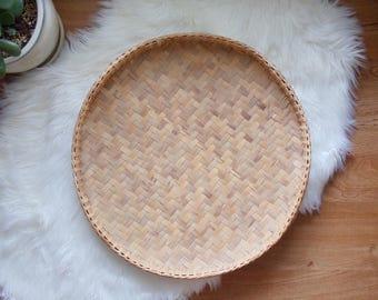 Vintage Tray Woven Circle