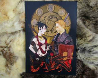 Dragon Age. Morrigan and Alistair. A4 Artprint.