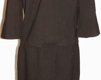 1960s Wool 2Pc Day Suit Sz 6 Vintage Retro