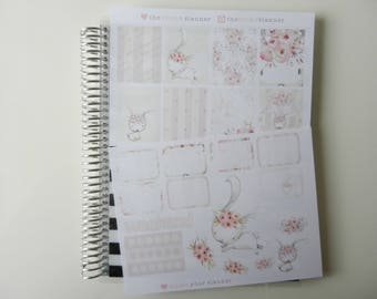All You Need Is Flowers - set of 25 stickers perfect for Erin Condren Life Planner, Kikki K or Filofax Planner