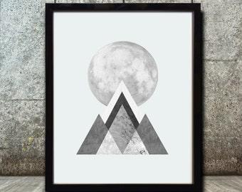 Geometric Art - Geometric  Prints - Abstract Prints - Nordic Art - Minimalist Art Prints