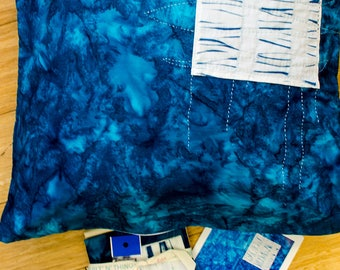 DIY Itajime Shibori Pillow Top Kit for Sashiko Inspired